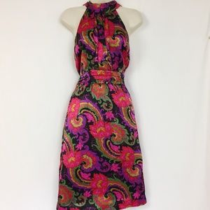J Crew Collection Silk Paisley Dress